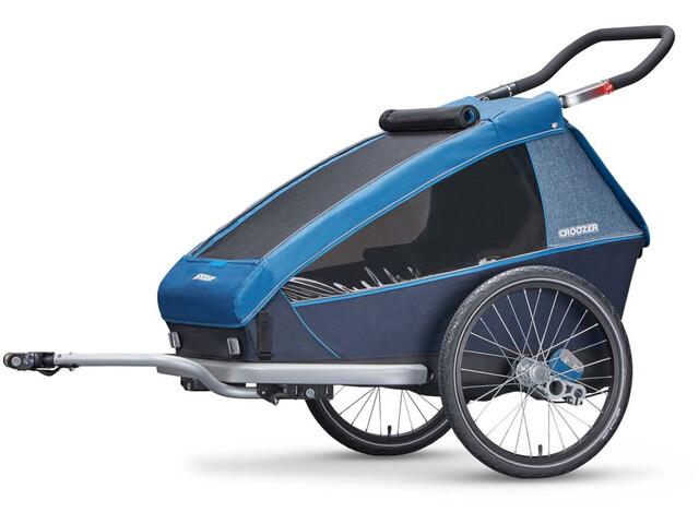 Remorque vélo Croozer Kid Plus for 2 - Bleu